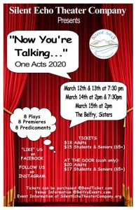 Now You're Talking … One Acts 2020 event poster