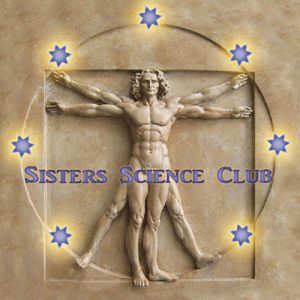 Sisters Science Club, visual of Leonardo da Vinci's Vitruvian Man